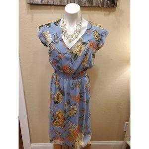 Enfocus Studio - Flowy Blue Floral Dress